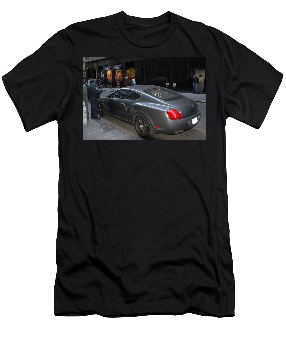 Police Men's T-Shirt (Athletic Fit) featuring the photograph Yes  Write Him Up Cop by Rob Hans