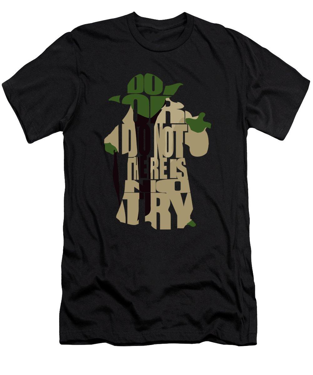 Yoda T-Shirt featuring the digital art Yoda - Star Wars by Inspirowl Design