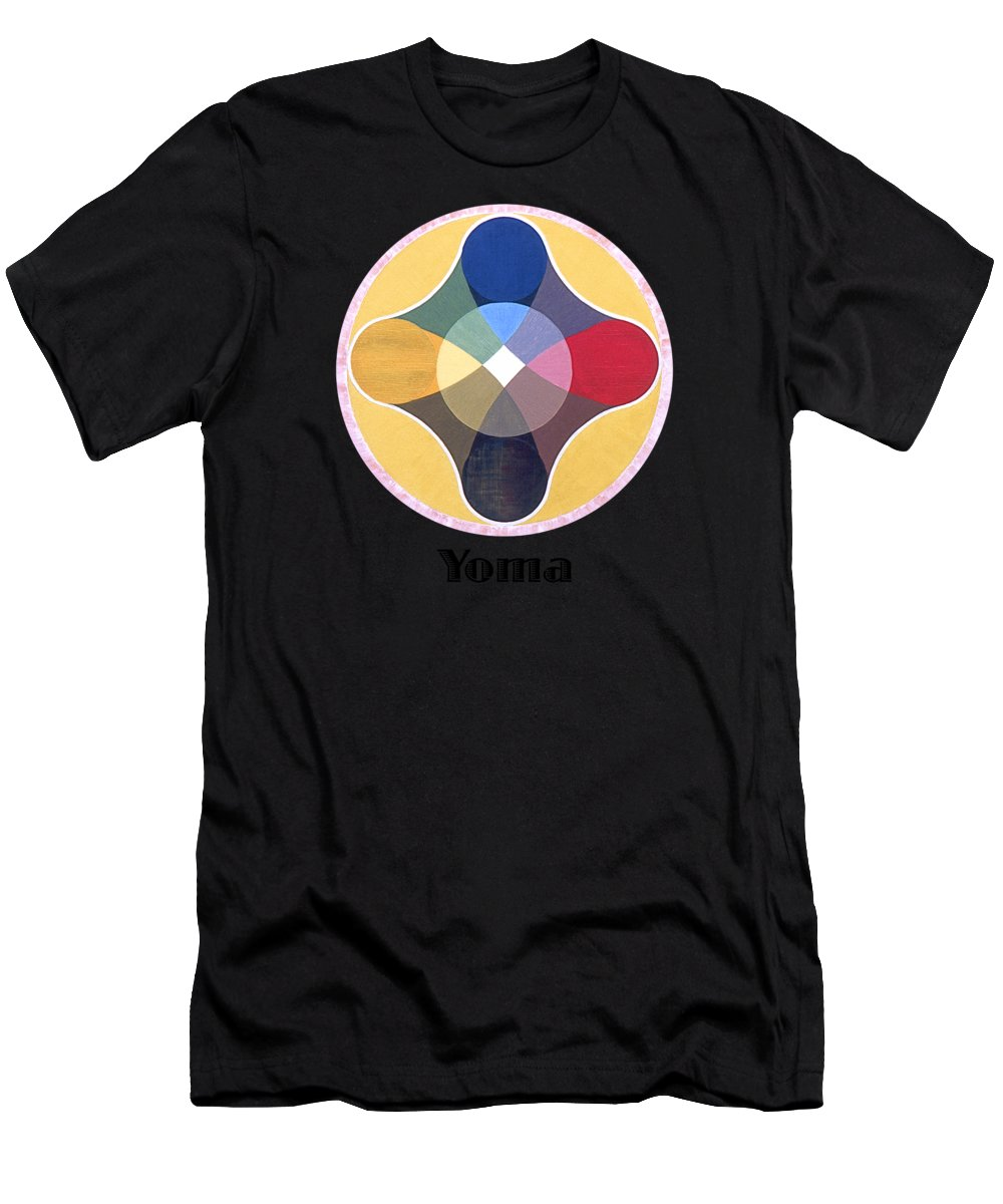 Painting Men's T-Shirt (Athletic Fit) featuring the painting Yoma Text by Michael Bellon