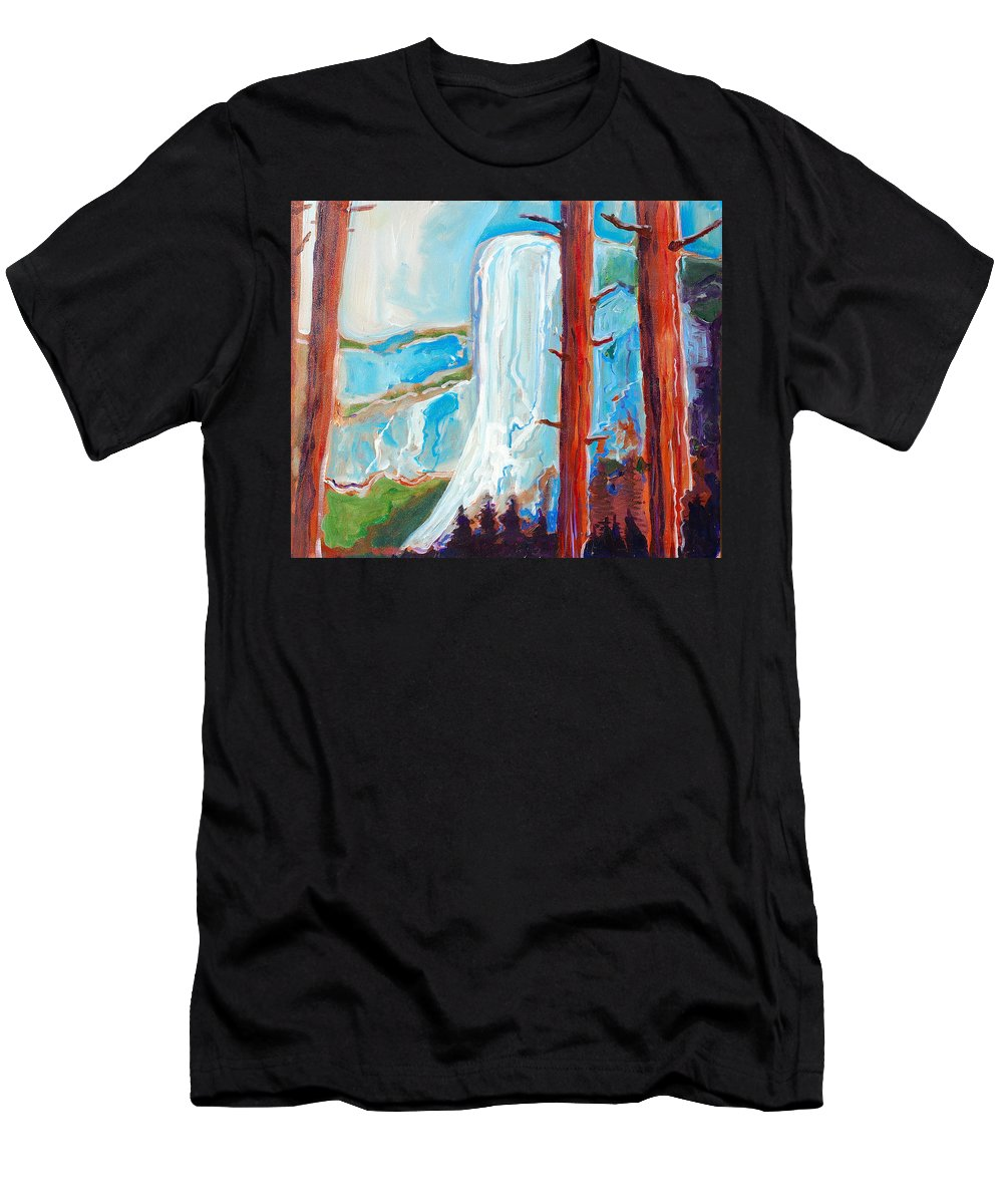 Men's T-Shirt (Athletic Fit) featuring the painting Yosemite by Kurt Hausmann