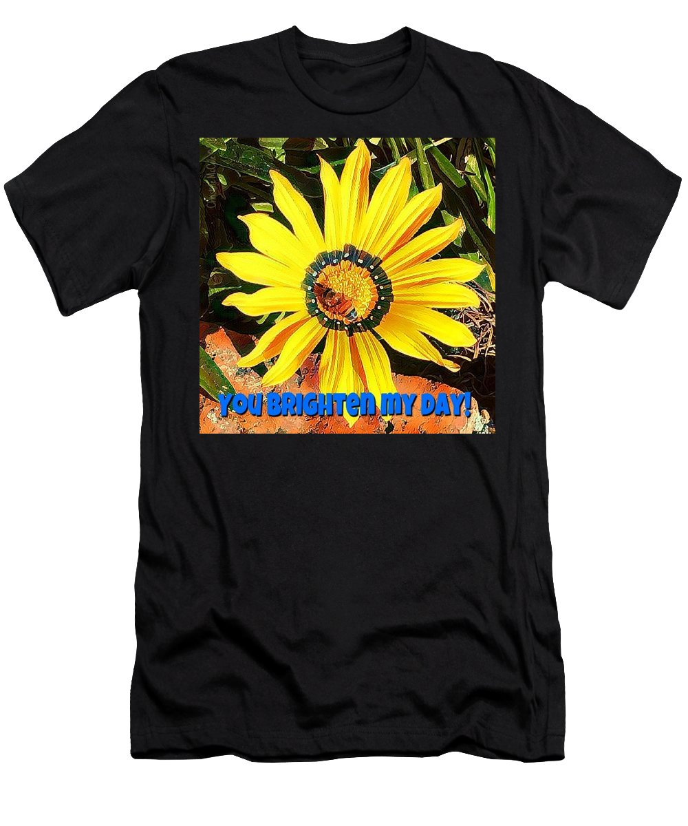 Daisy Men's T-Shirt (Athletic Fit) featuring the photograph You Brighten My Day by Christine McCole