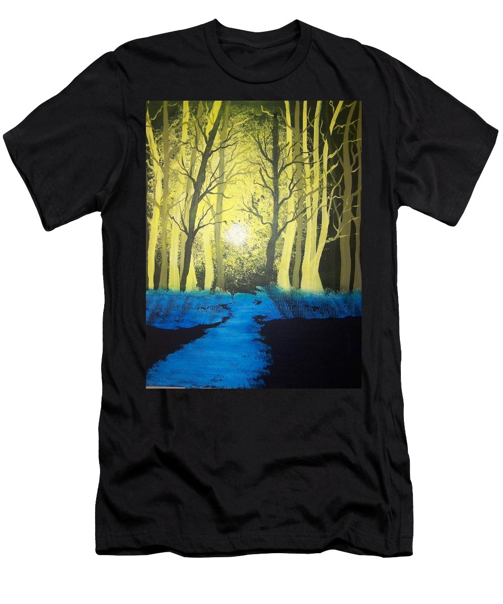 Forest Men's T-Shirt (Athletic Fit) featuring the painting You Cant See The Forest For The Trees by Laurie Kidd