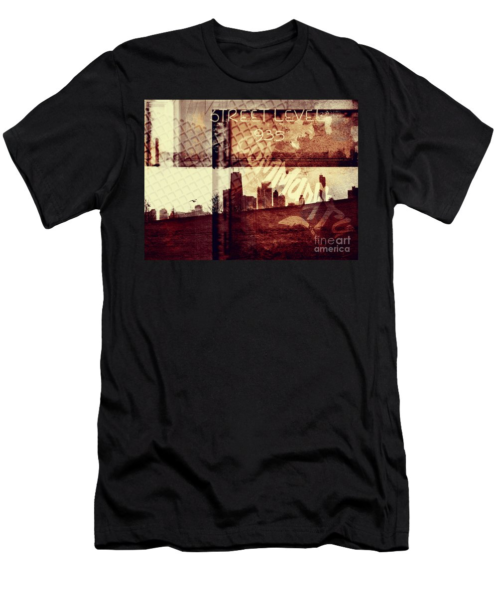 Chicago Men's T-Shirt (Athletic Fit) featuring the photograph You Held My Hand Softly Through The Humid Summer Streets by Dana DiPasquale