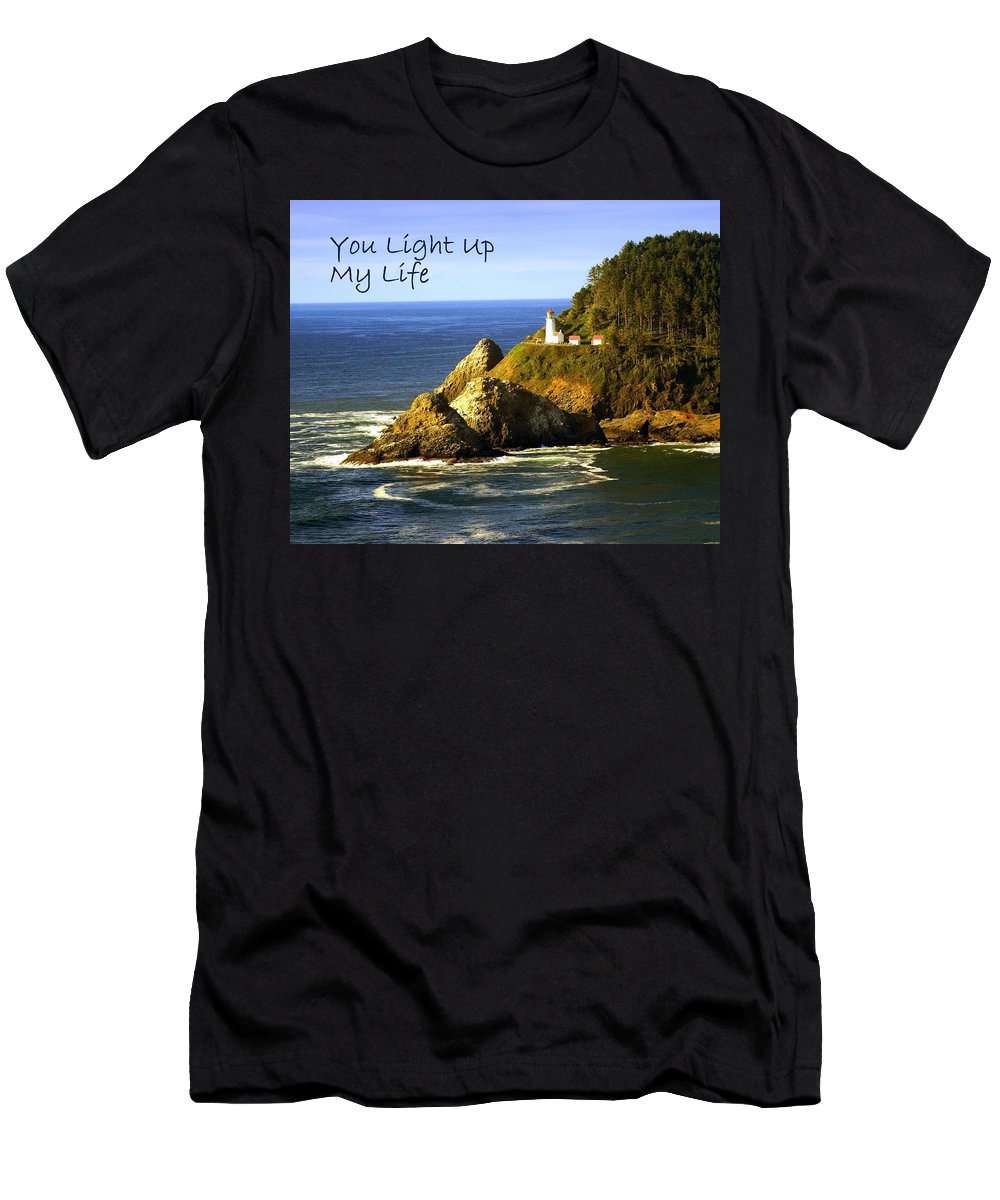 Photo Greeting Card Men's T-Shirt (Athletic Fit) featuring the greeting card You Light Up My Life 1 by Marty Koch