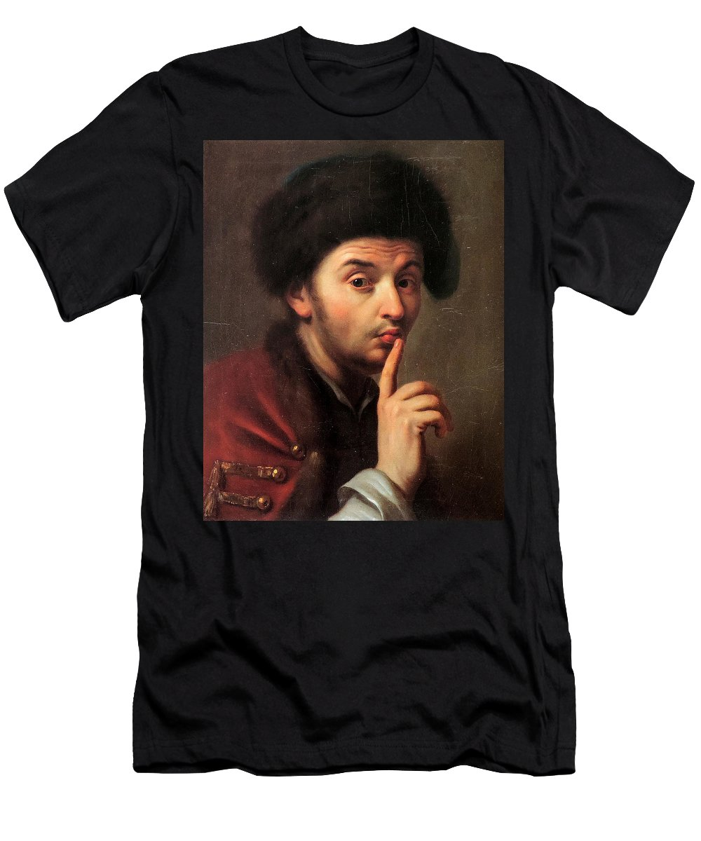 Pietro Antonio Rotari Men's T-Shirt (Athletic Fit) featuring the painting Young Boy by MotionAge Designs