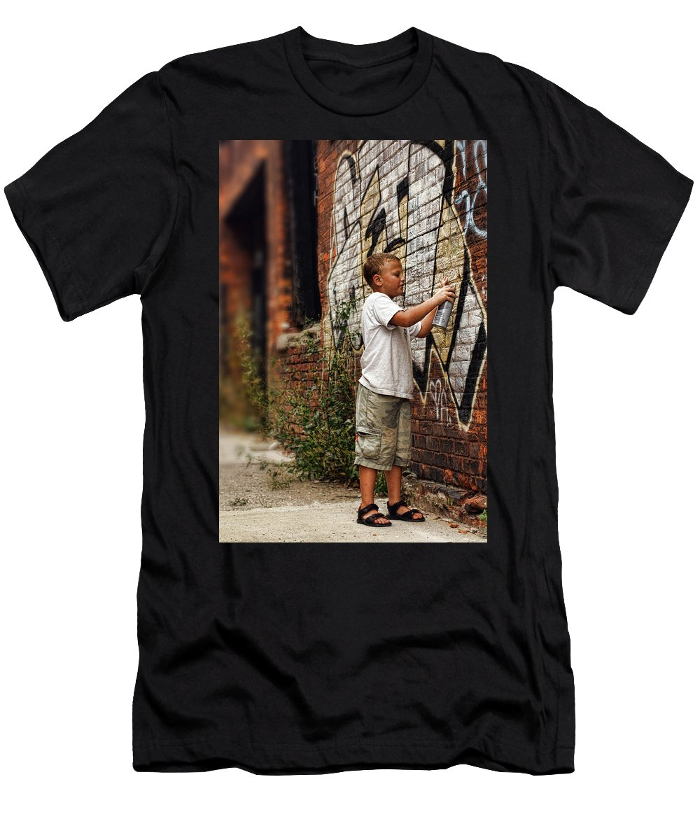 Young Men's T-Shirt (Athletic Fit) featuring the photograph Young Vandal by Gordon Dean II