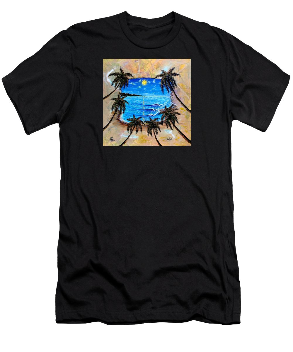 Tropical T-Shirt featuring the painting Your Vision by Paul Carter