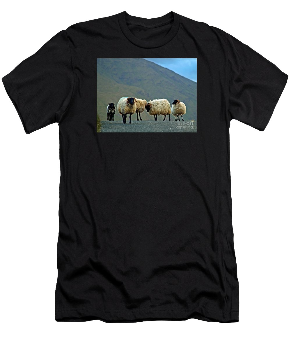 Fine Art Photography Men's T-Shirt (Athletic Fit) featuring the photograph You're On Our Turf Now by Patricia Griffin Brett