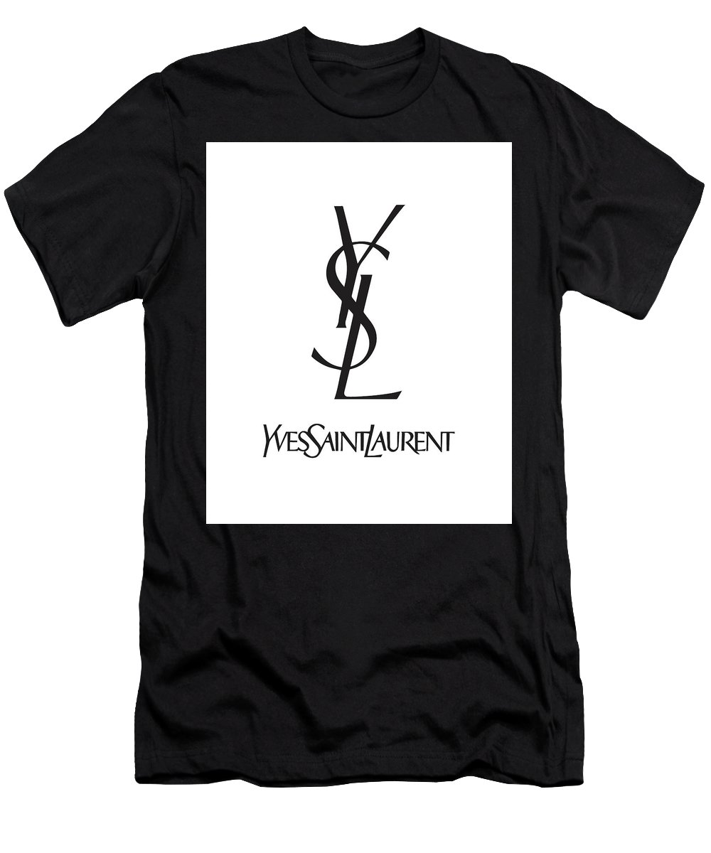 a9f71de3089 Yves Saint Laurent - Ysl - Black And White - Lifestyle And Fashion Men's  T-Shirt (Athletic Fit)