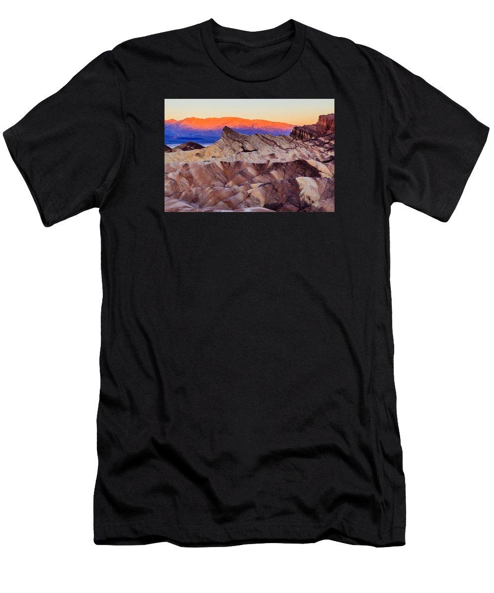 Zabriskie Point Men's T-Shirt (Athletic Fit) featuring the photograph Zabriskie Point by Prashant Thumma