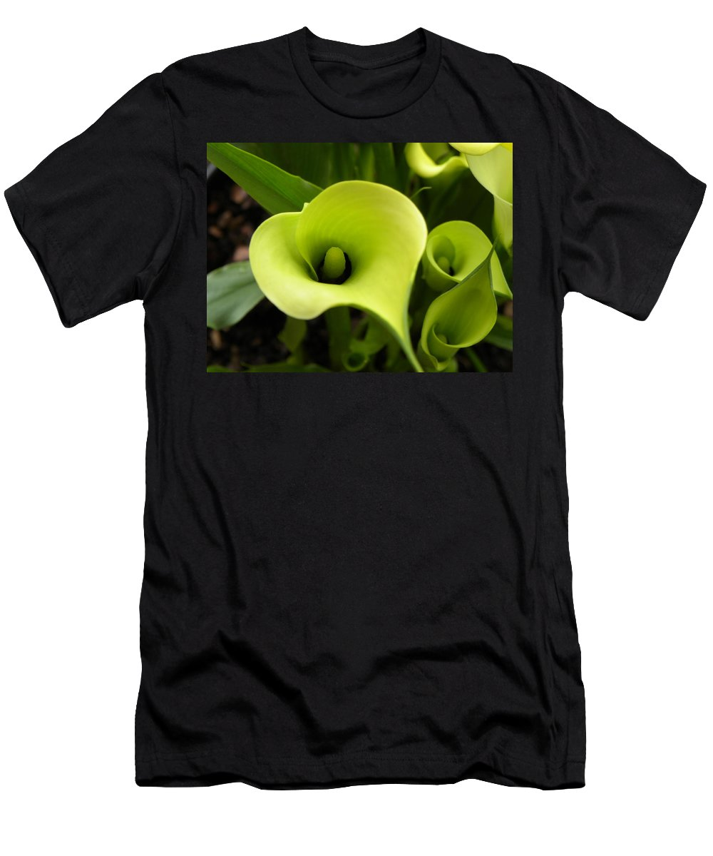 Nature Men's T-Shirt (Athletic Fit) featuring the photograph Calla Lilies by Shannon Turek