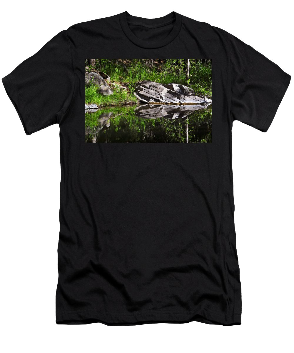 Skip Hunt Men's T-Shirt (Athletic Fit) featuring the photograph Zen Pool by Skip Hunt