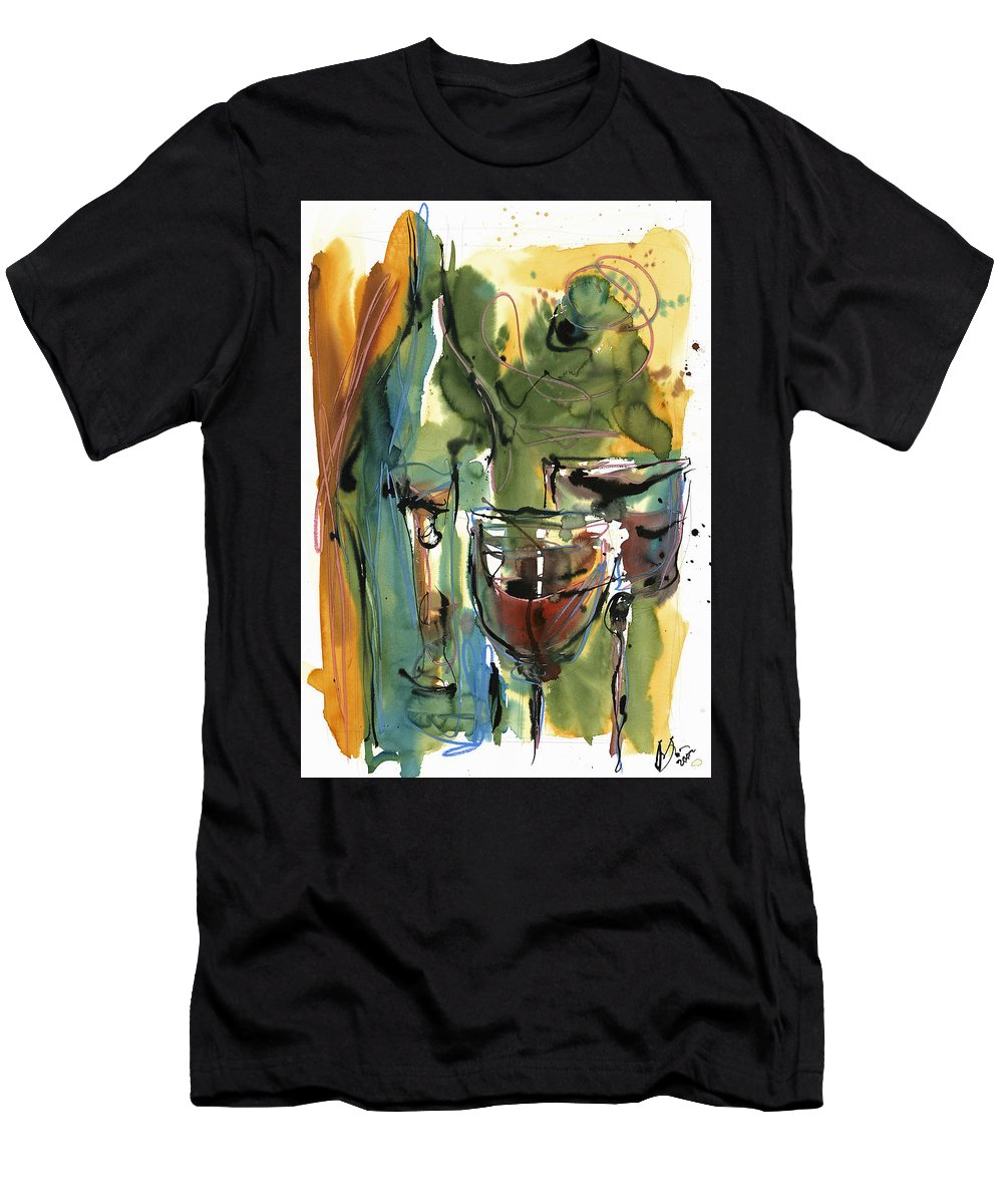 Wine Men's T-Shirt (Athletic Fit) featuring the painting Zin-findel by Robert Joyner