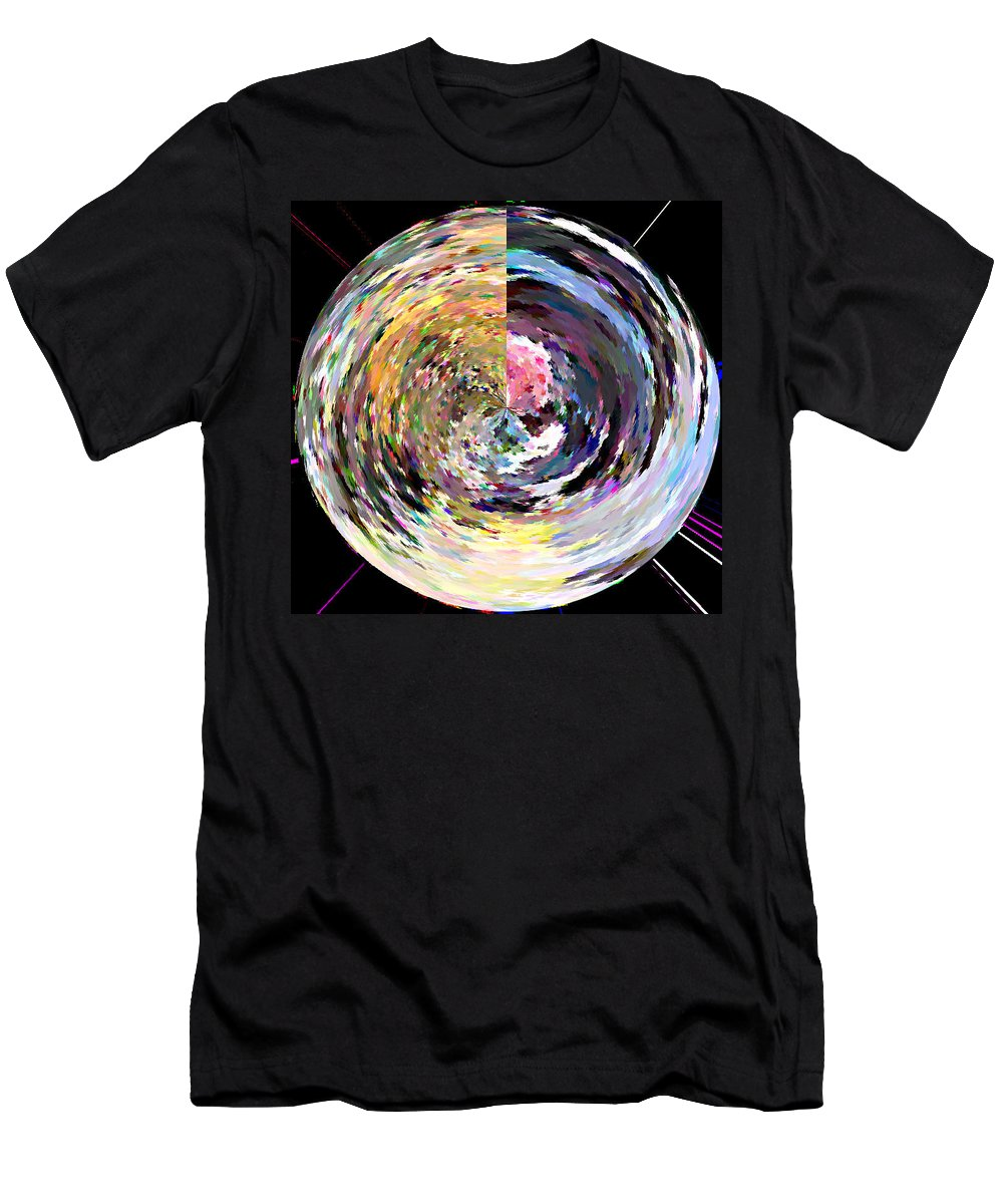 Digital Men's T-Shirt (Athletic Fit) featuring the painting Zing by Anil Nene