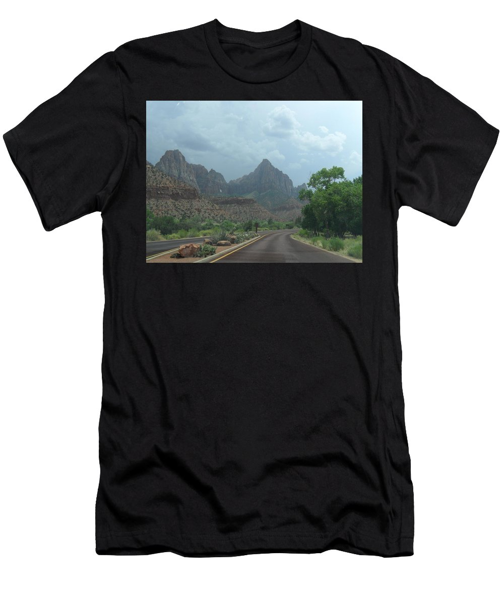 Photography Men's T-Shirt (Athletic Fit) featuring the photograph Zion National Park 1 by Jocelyn Eastman