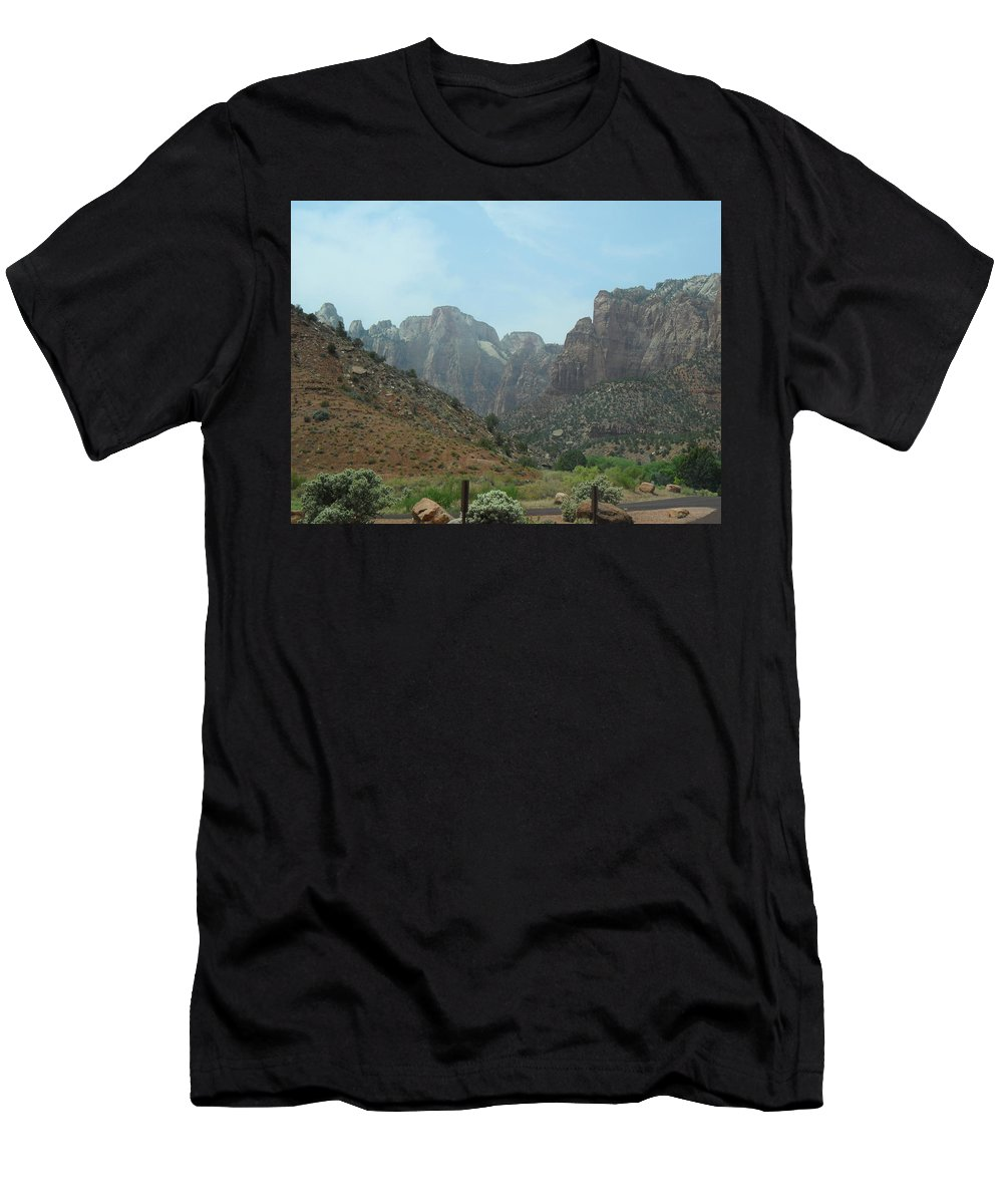 Photography Men's T-Shirt (Athletic Fit) featuring the photograph Zion National Park 3 by Jocelyn Eastman