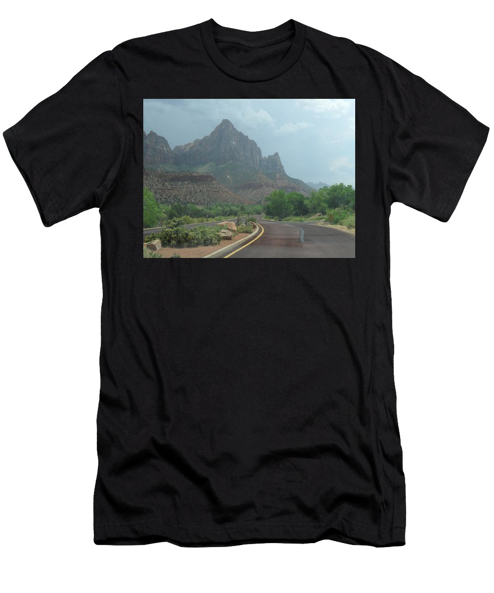 Photography Men's T-Shirt (Athletic Fit) featuring the photograph Zion National Part 2 by Jocelyn Eastman