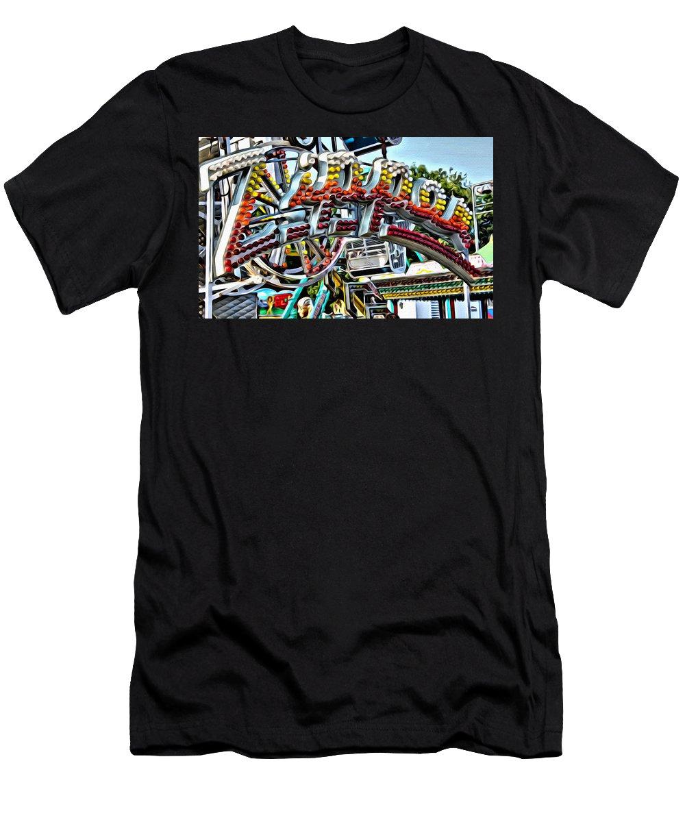 Zipper Men's T-Shirt (Athletic Fit) featuring the photograph Zipper by Modern Art