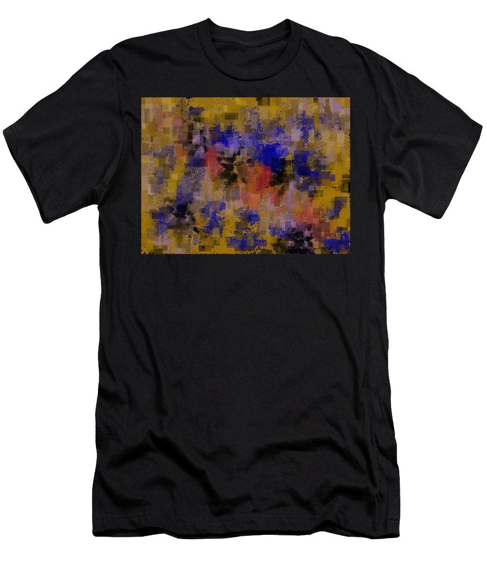 Blue Men's T-Shirt (Athletic Fit) featuring the digital art Zonal Warfare by Cheryl Charette