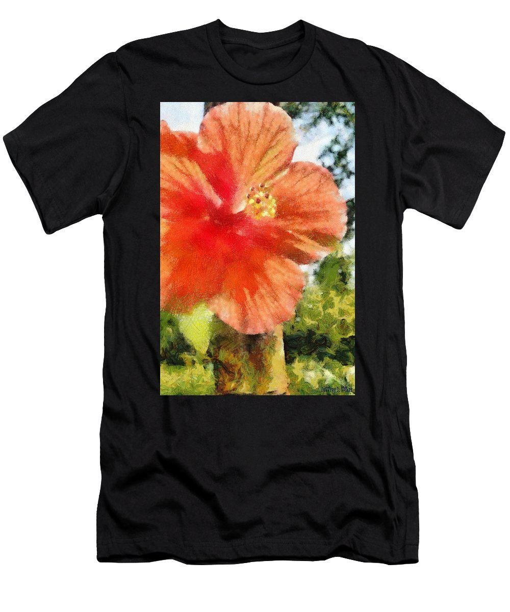 Zoo Men's T-Shirt (Athletic Fit) featuring the painting Zoo Flower by Jeffrey Kolker