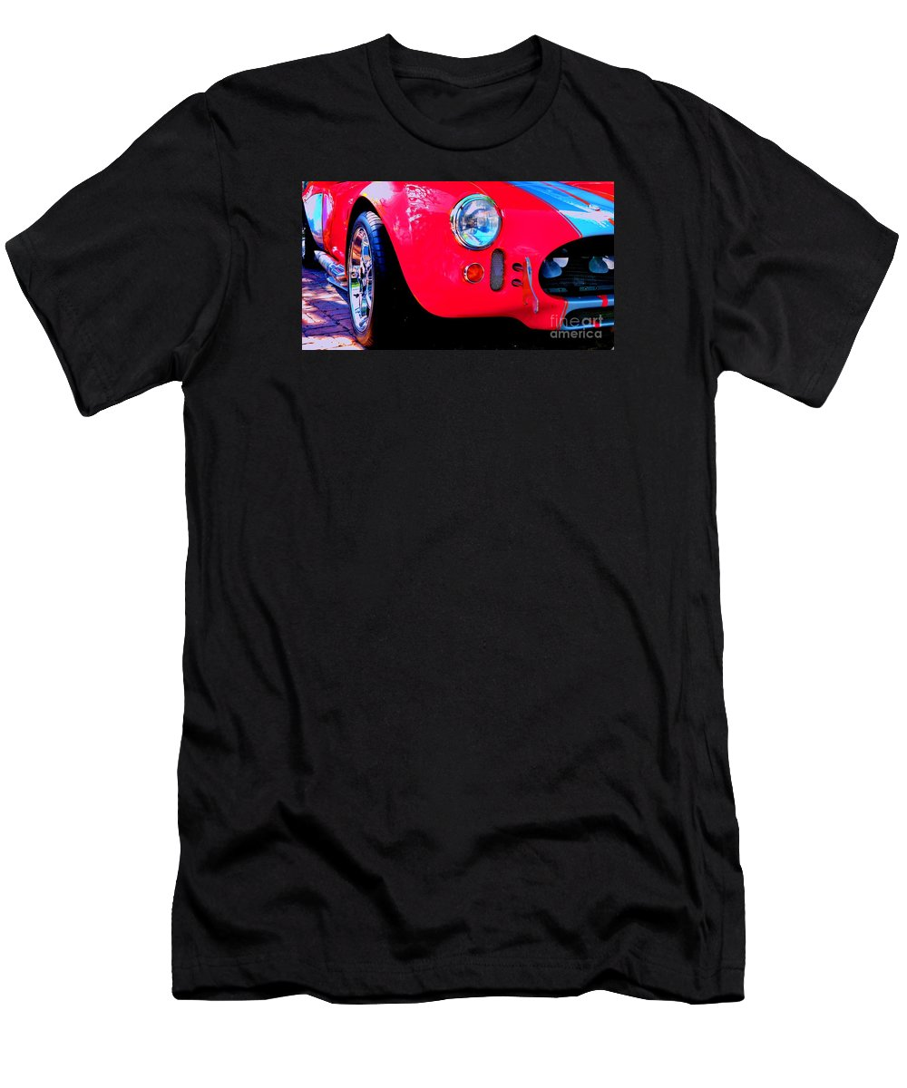 Red Men's T-Shirt (Athletic Fit) featuring the photograph Zoom'n by Lisa Renee Ludlum