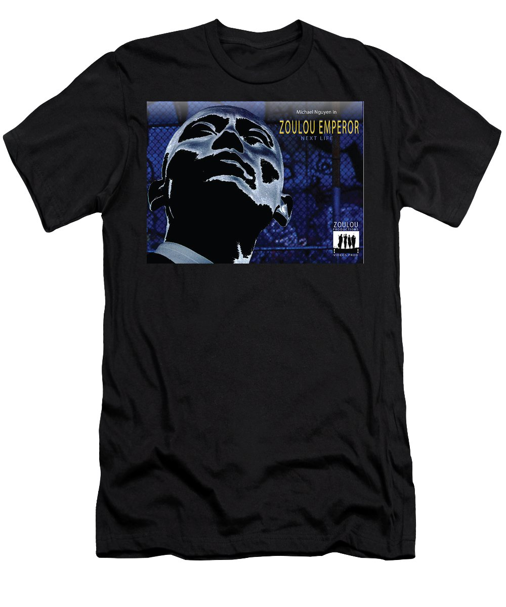 Poster Men's T-Shirt (Athletic Fit) featuring the photograph Zoulou Emperor by Line Gagne