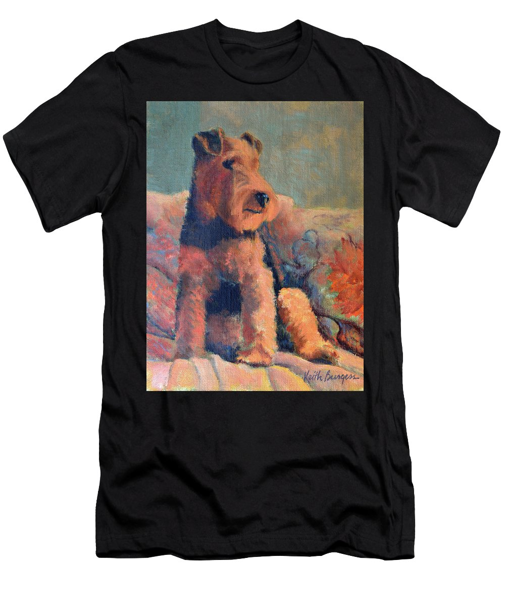 Pet Men's T-Shirt (Athletic Fit) featuring the painting Zuzu by Keith Burgess