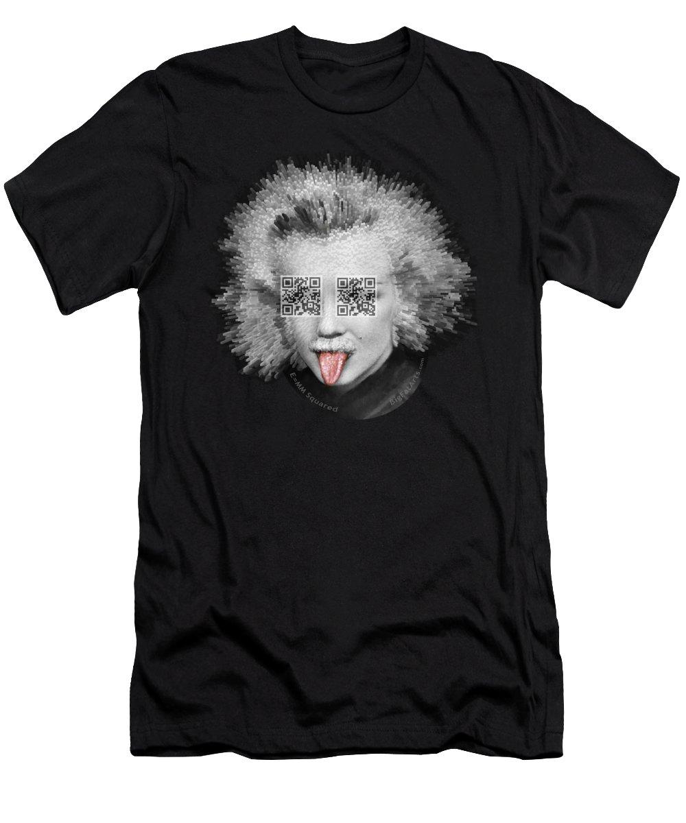 Pop Surrealism T-Shirt featuring the digital art E equals MM Squared by Big Fat Arts
