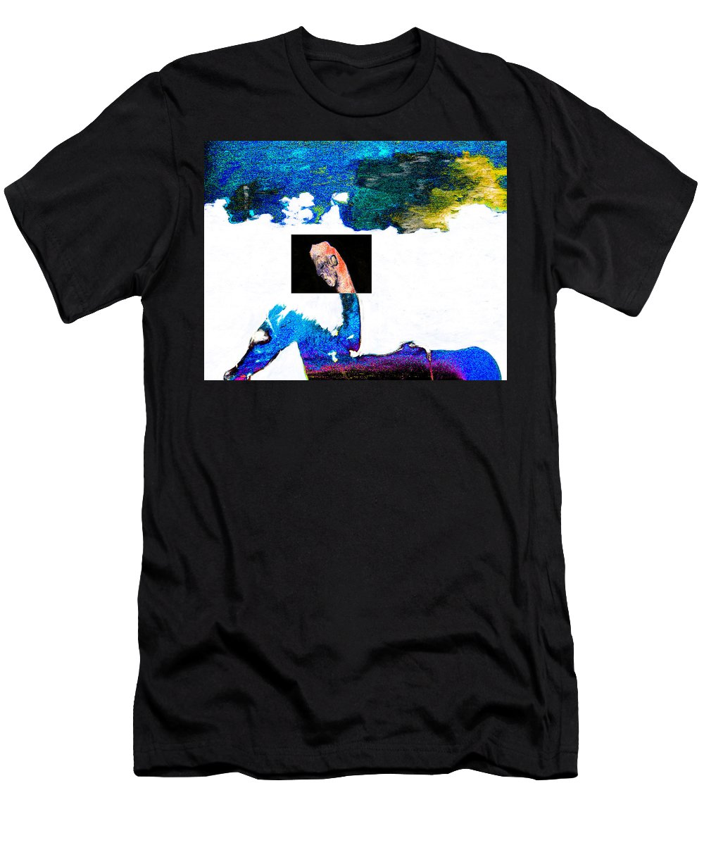 Horseman Men's T-Shirt (Athletic Fit) featuring the digital art Horseman by Artist Dot