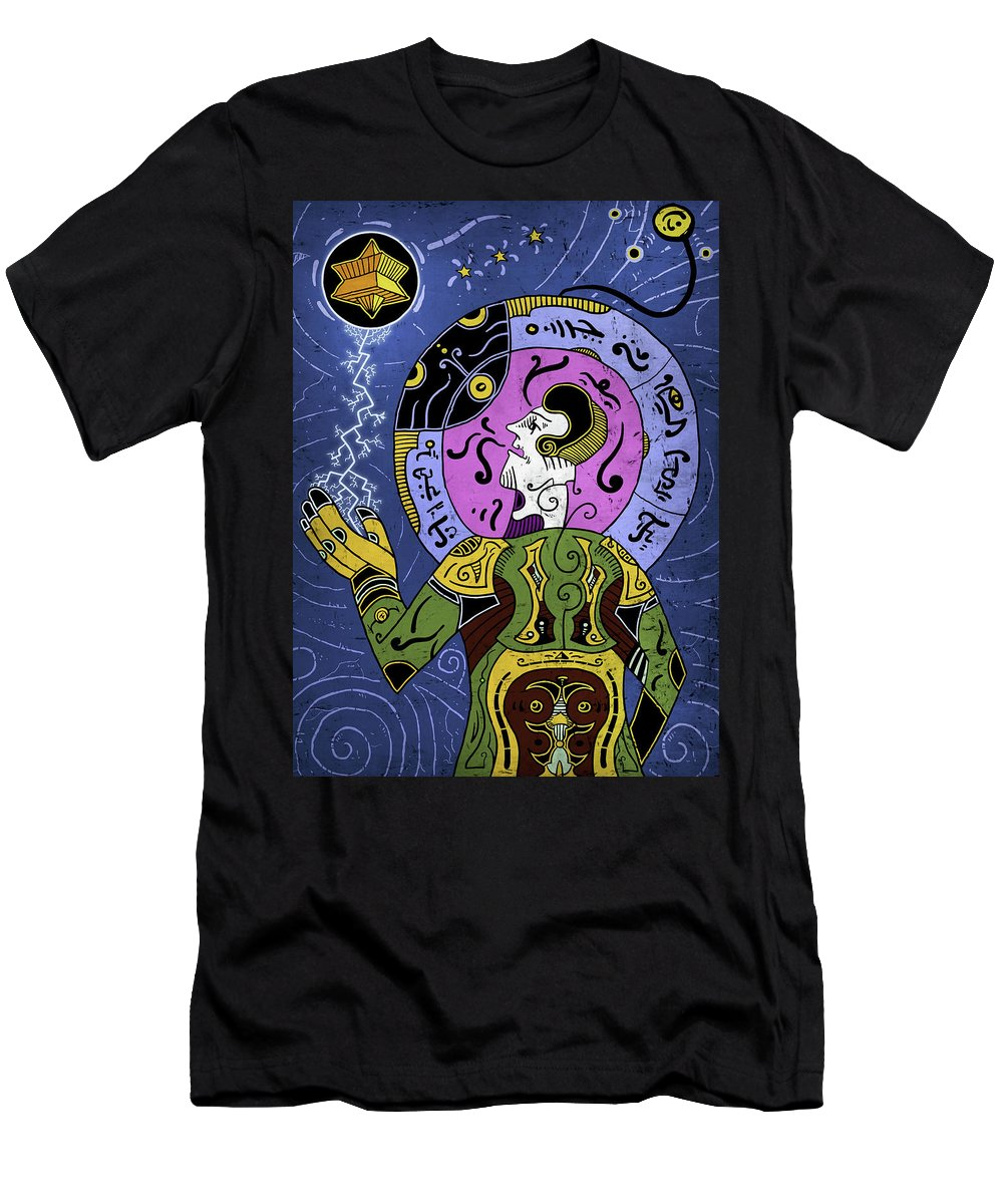 Philosopher Men's T-Shirt (Athletic Fit) featuring the digital art Incal by Sotuland Art