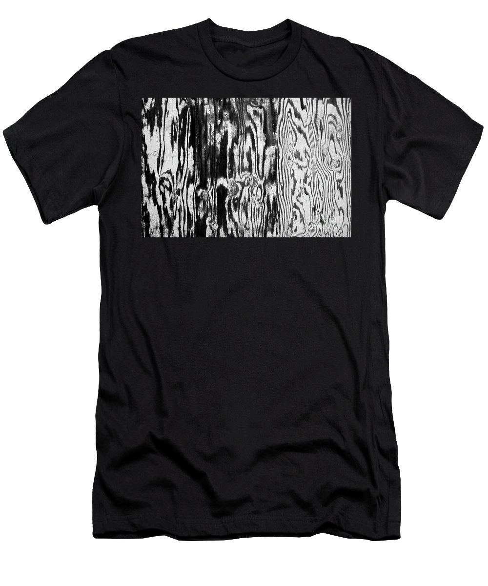 Seattle Men's T-Shirt (Athletic Fit) featuring the photograph Stained Wood Siding by Jim Corwin