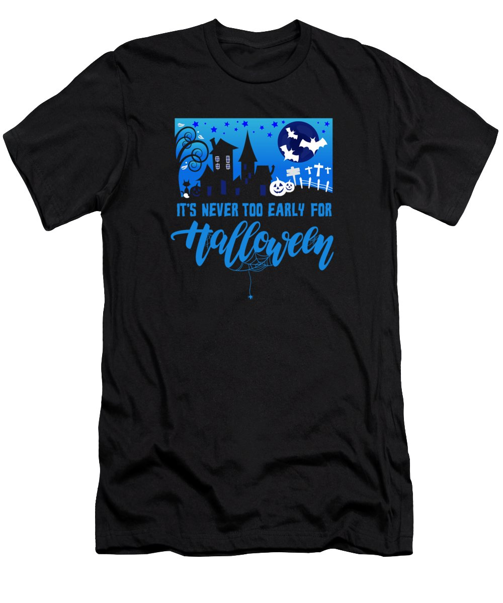 Halloween-costume Men's T-Shirt (Athletic Fit) featuring the digital art tshirt Its Never Too Early For Halloween invert by Kaylin Watchorn