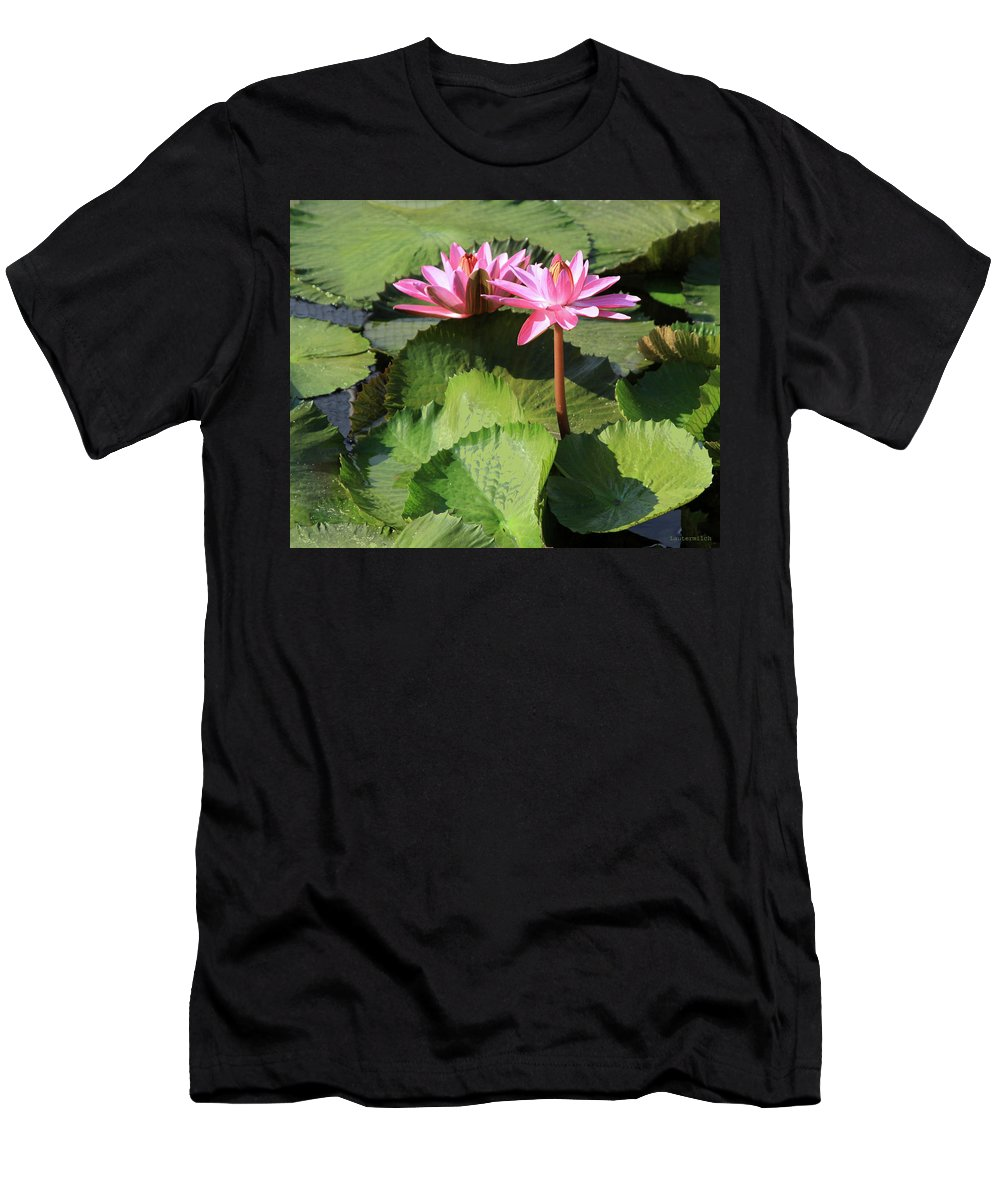 Water Lilies T-Shirt featuring the photograph Water Lilies in Sunlight by John Lautermilch