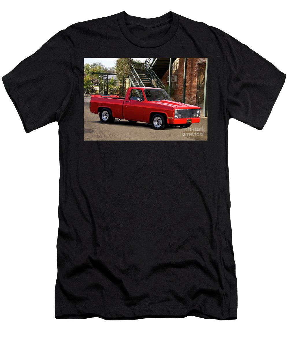 Automobile Men's T-Shirt (Athletic Fit) featuring the photograph 1983 Chevrolet C10 Lrhh Pickup I by Dave Koontz