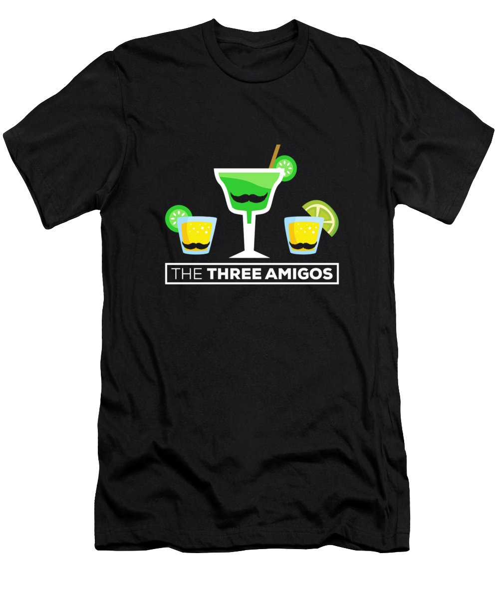 Big-foot Men's T-Shirt (Athletic Fit) featuring the digital art 2 The Three Amigos by Andrea Robertson