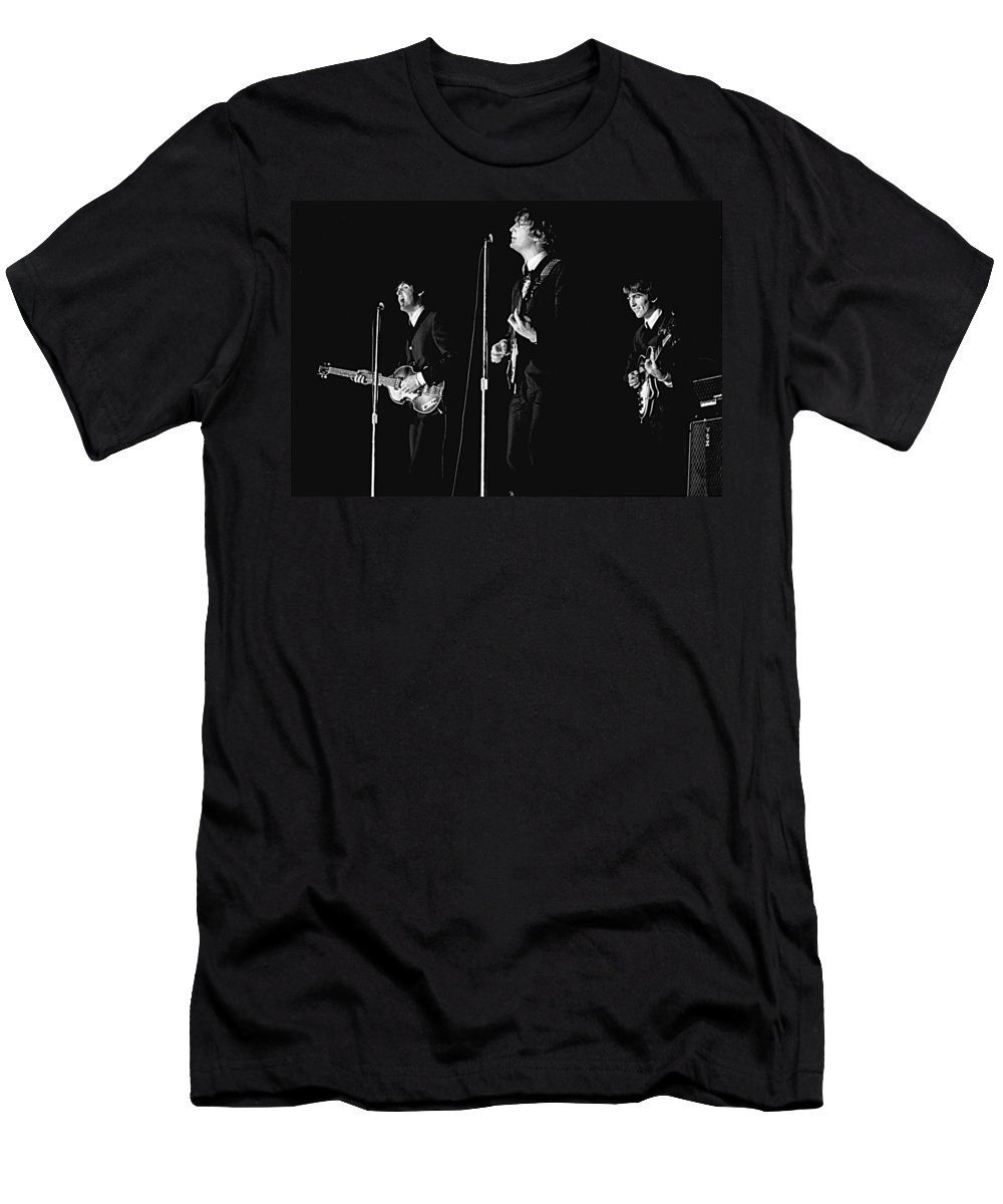 1964 T-Shirt featuring the photograph Beatles In Concert, 1964 by Larry Mulvehill