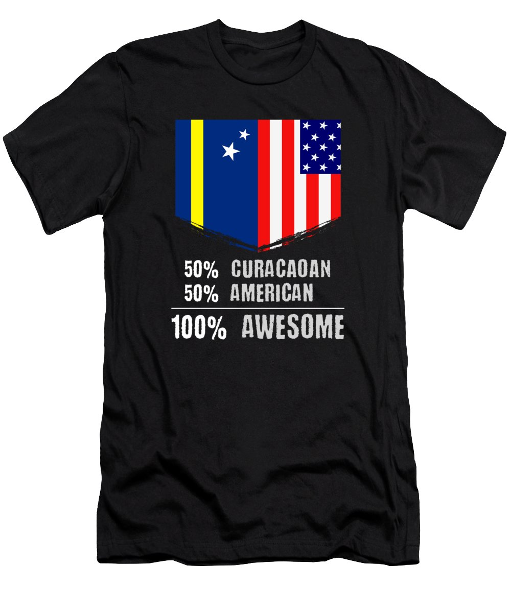 Birthday Men's T-Shirt (Athletic Fit) featuring the drawing 50 Curacaoan 50 American 100 Awesome by The Perfect Presents
