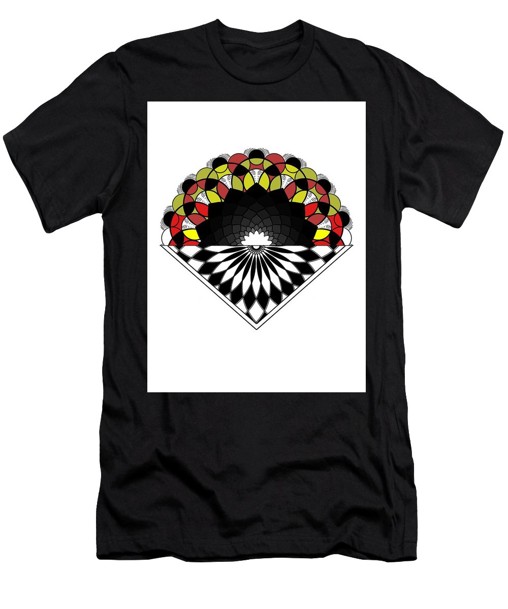 Sacred Geometry Men's T-Shirt (Athletic Fit) featuring the digital art Untitled by Giuseppe Barilla