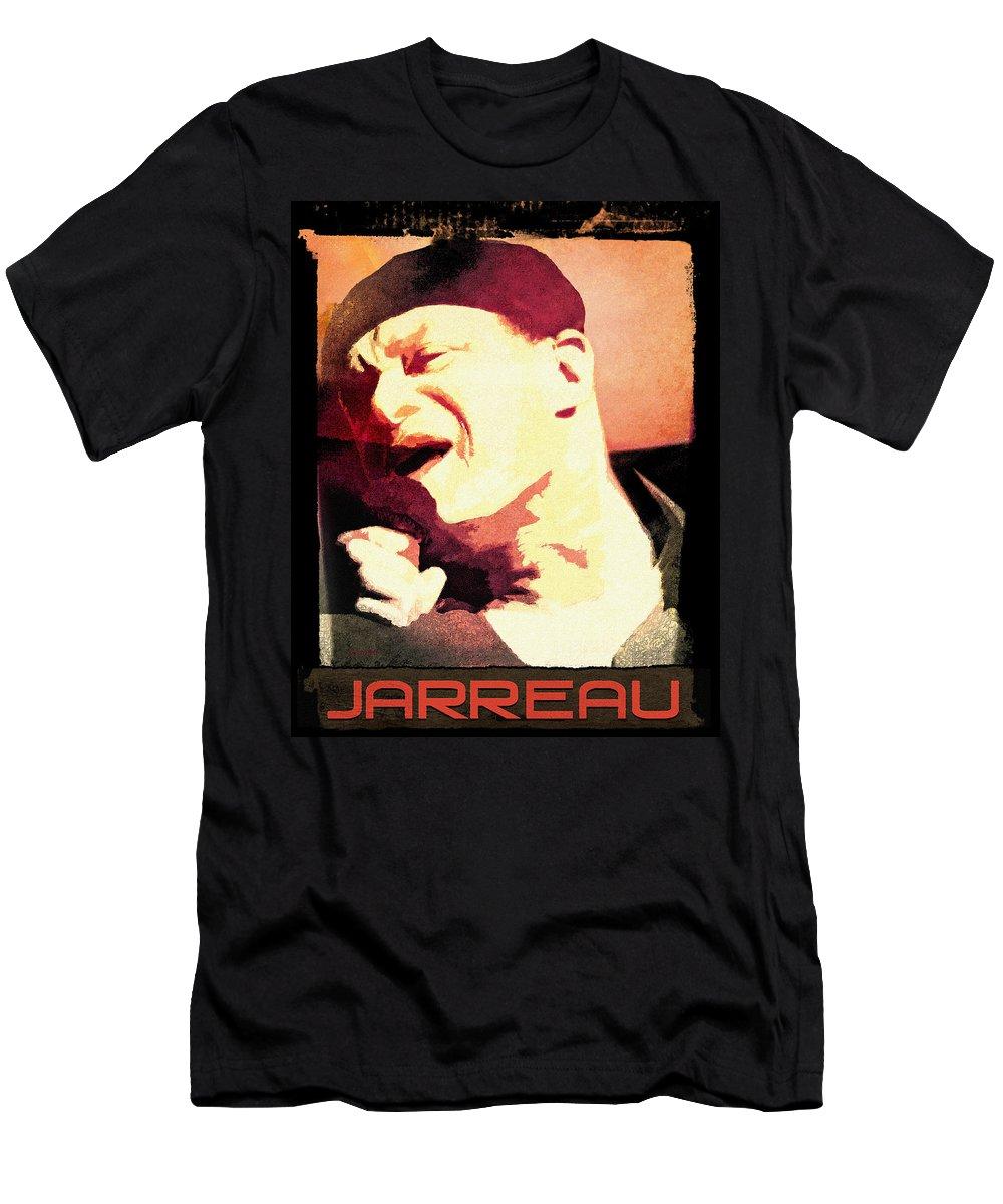 T-Shirt featuring the digital art Al Jarreau by Regina Wyatt