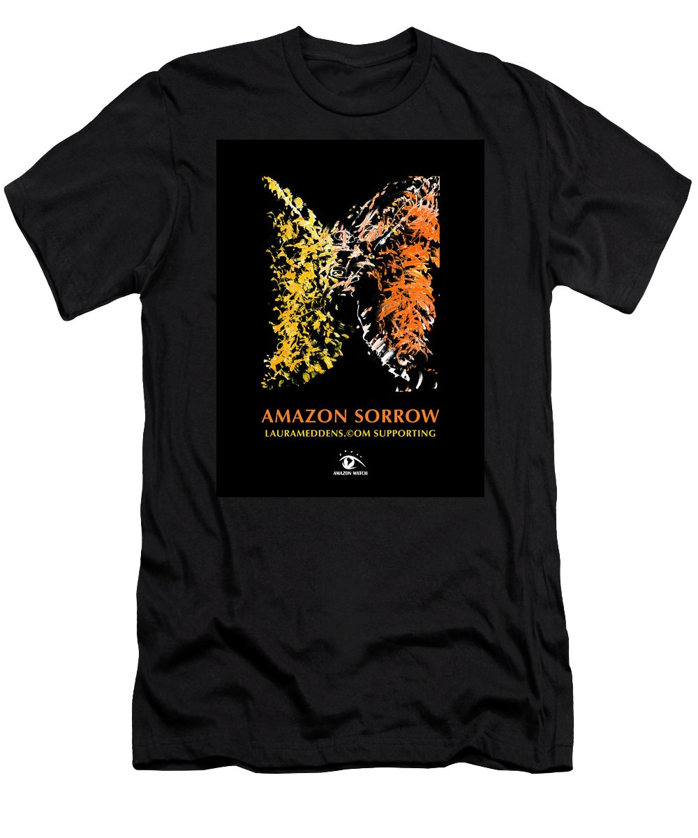 Amazon T-Shirt featuring the painting Amazon Sorrow by Laura Meddens
