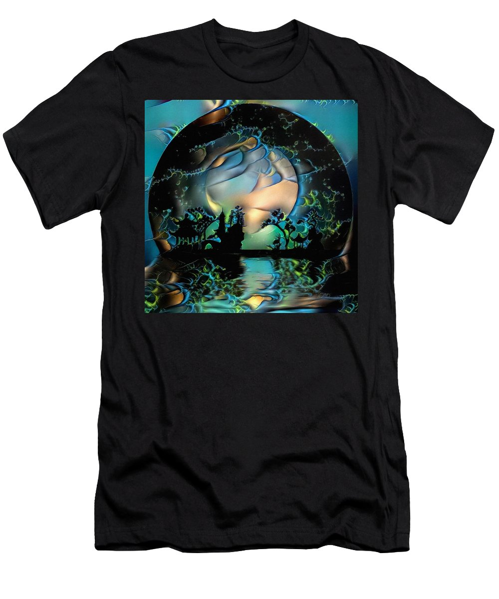 Abstract T-Shirt featuring the digital art Asian Night Silhouettes by Bruce Rolff