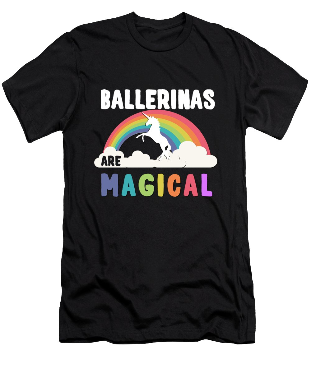 Unicorn Men's T-Shirt (Athletic Fit) featuring the digital art Ballerinas Are Magical by Flippin Sweet Gear