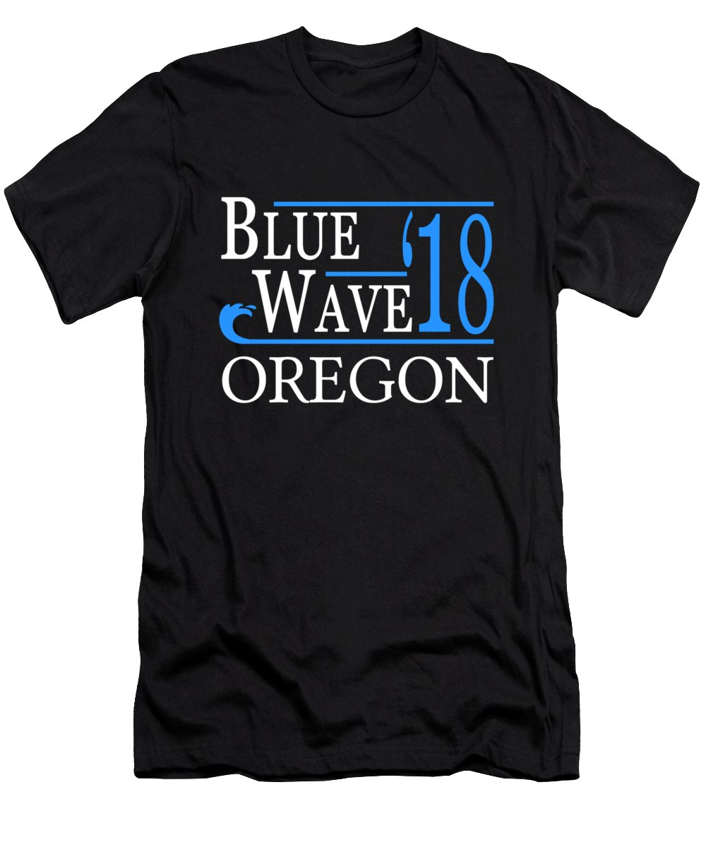 Election Men's T-Shirt (Athletic Fit) featuring the digital art Blue Wave Oregon Vote Democrat 2018 by Flippin Sweet Gear