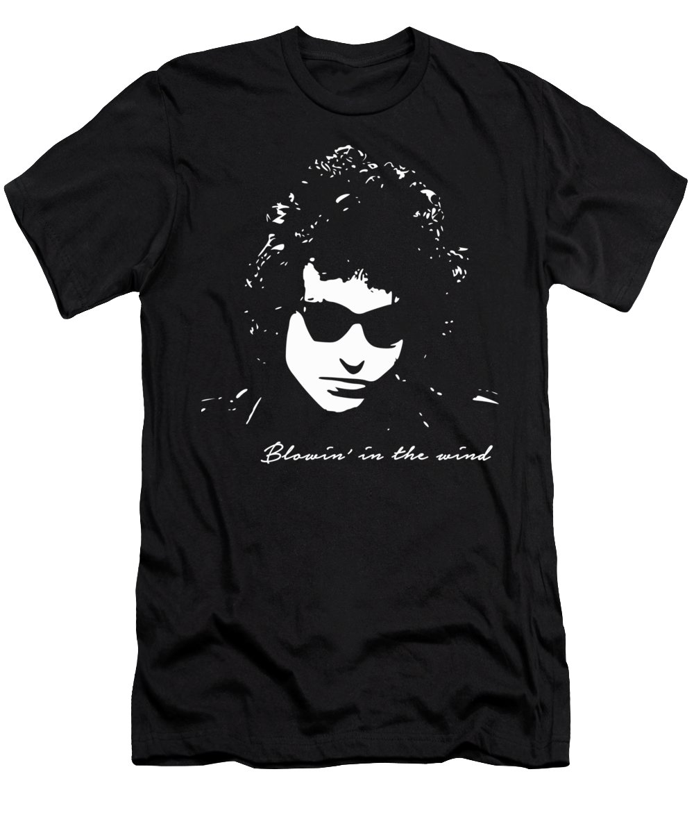 Bob Dylan T-Shirt featuring the digital art Bowin' In The Wind by Filip Schpindel