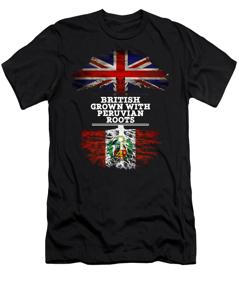 Christmas Men's T-Shirt (Athletic Fit) featuring the digital art British Grown With Peruvian Roots by Jose O