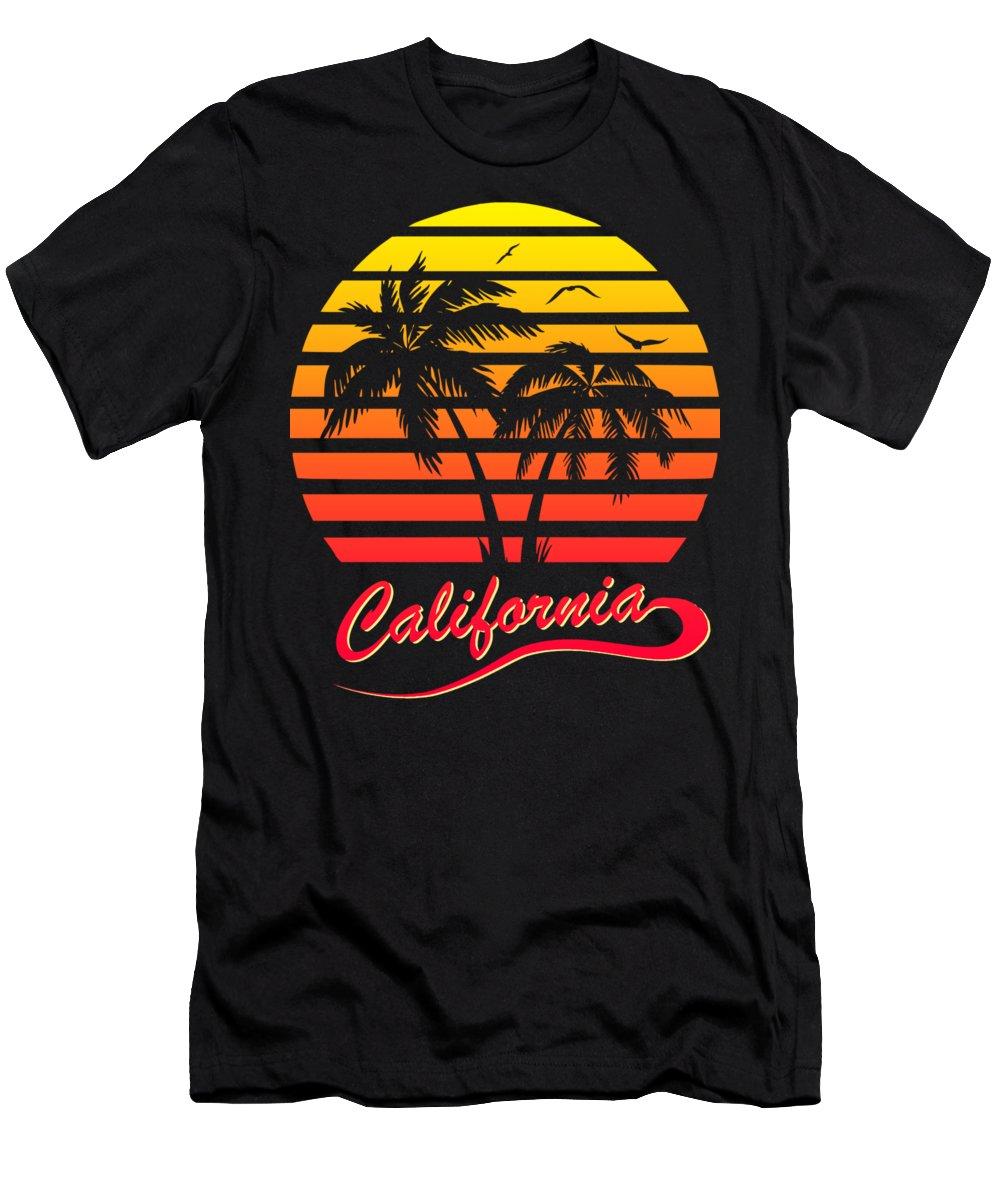 California T-Shirt featuring the digital art California Sunset by Filip Schpindel