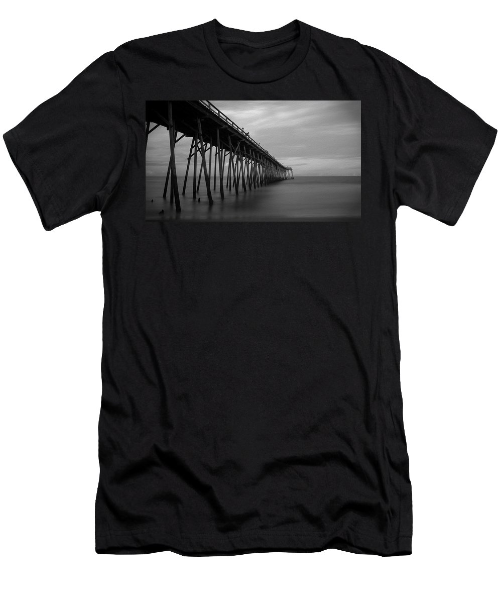 Ocean T-Shirt featuring the photograph Carolina Beach Pier On Labor Day Eve by SL Ernst