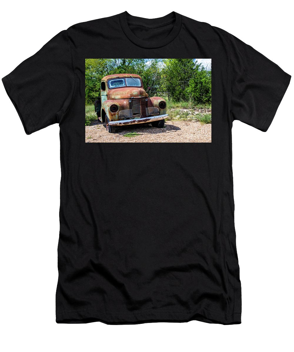 Car Men's T-Shirt (Athletic Fit) featuring the photograph Cars From The Past by Terri Morris