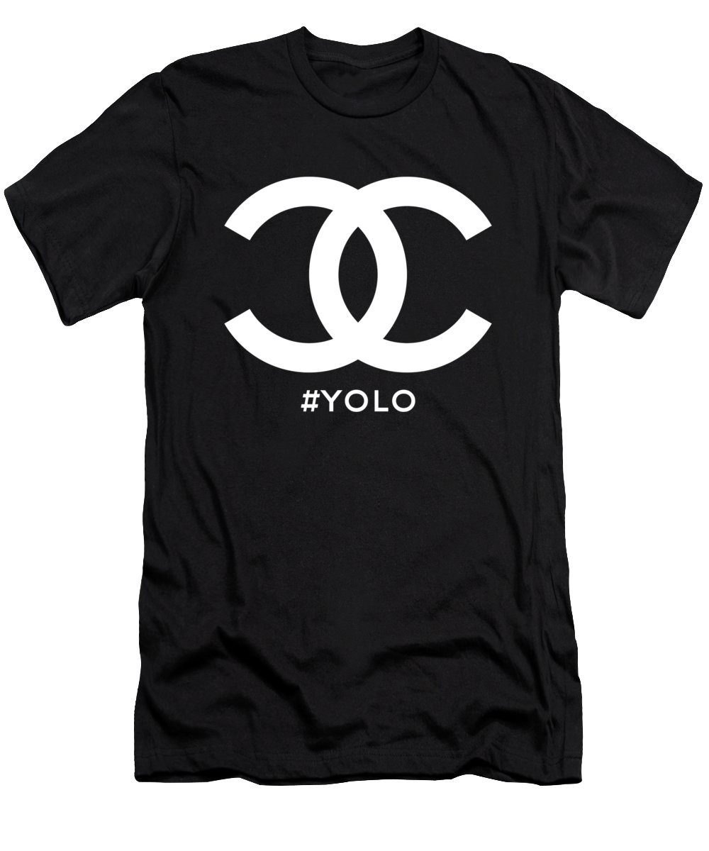 Chanel Men's T-Shirt (Athletic Fit) featuring the painting Chanel You Only Live Once by Nikita