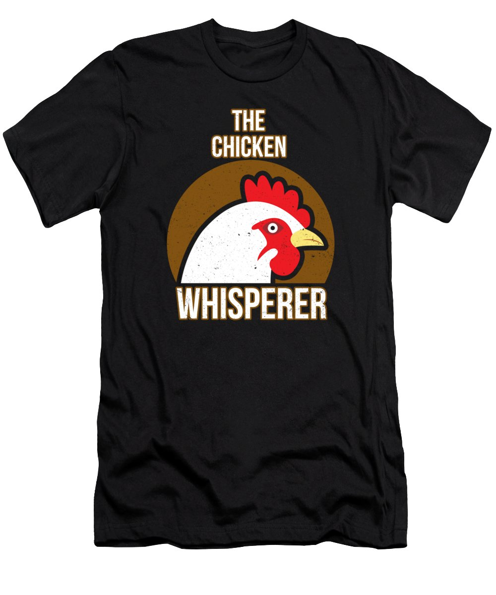 Chicken Men's T-Shirt (Athletic Fit) featuring the digital art Chicken Whisperer by Passion Loft